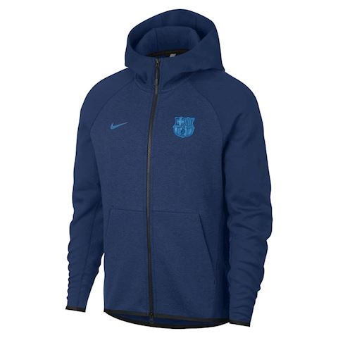 Nike FC Barcelona Tech Fleece Men's Hoodie - Blue Image