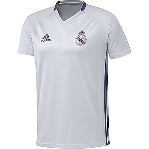 adidas Real Madrid Training T-Shirt Crystal White/Super Purple Kids Image