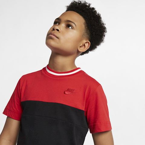 Nike Air Older Kids' (Boys') Short-Sleeve Top - Red Image 3