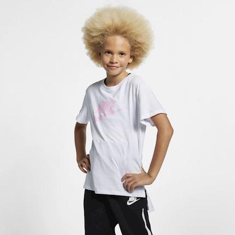 Nike Sportswear Older Kids' (Girls') T-Shirt - White Image