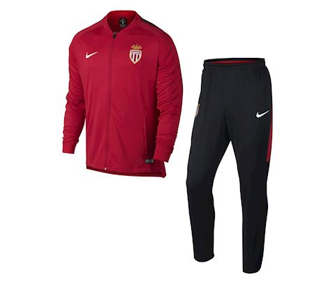 Nike AS Monaco Tracksuit Dry Squad Knit - University Red/Black/White Image