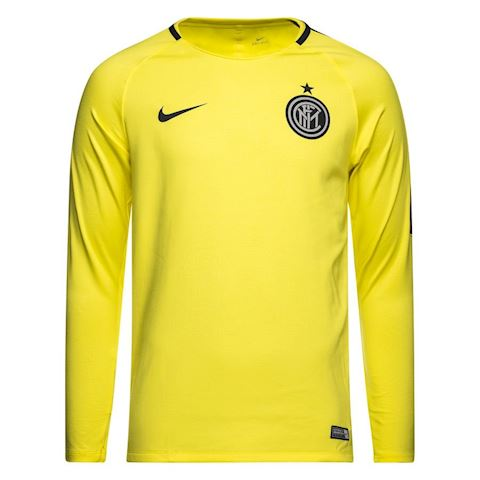 timeless design 639dc 64e01 Nike Inter Training T-Shirt Dry Squad GX - Dynamic Yellow/Thunder Blue L/S
