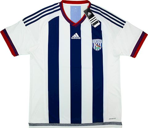 adidas West Bromwich Albion Mens SS Home Shirt 2015/16 Image 3