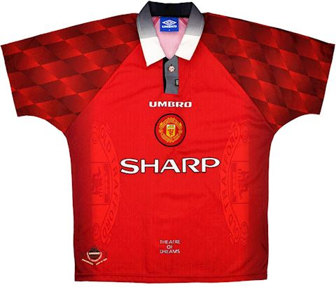 Umbro Manchester United Mens SS Home Shirt 1996/98 Image 2