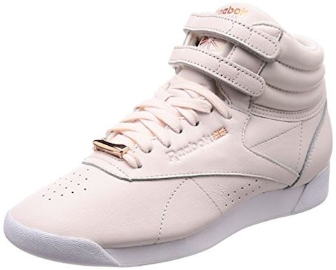 Reebok Classics Womens Freestyle Hi Muted Trainers Pale Pink White Cool  Shadow Image cd6b3df01