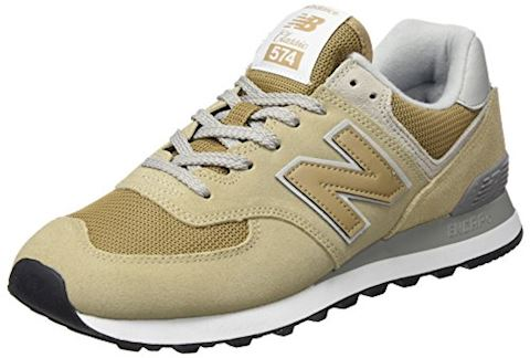 New Balance  ML574  women's Shoes (Trainers) in Beige Image