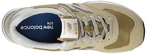 New Balance  ML574  women's Shoes (Trainers) in Beige Image 7