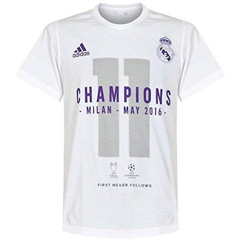 adidas Real Madrid UCL 2016 Winners T-Shirt - White, White Image