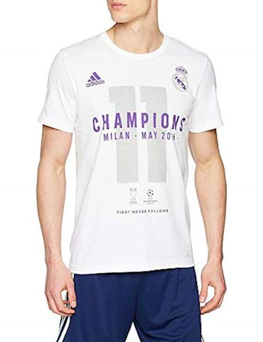 adidas Real Madrid UCL 2016 Winners T-Shirt - White, White Image 2