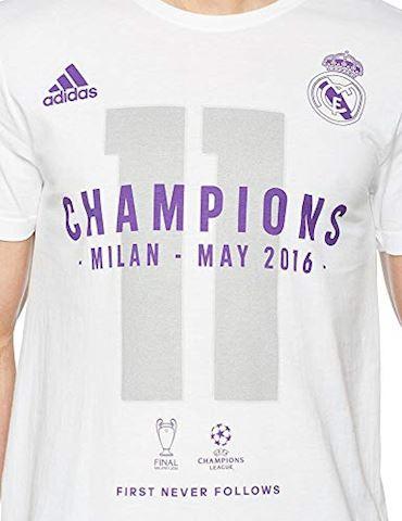 adidas Real Madrid UCL 2016 Winners T-Shirt - White, White Image 3
