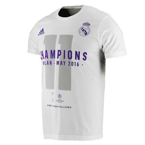 adidas Real Madrid UCL 2016 Winners T-Shirt - White, White Image 6