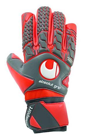 Uhlsport Goalkeeper Gloves AeroRed Absolutgrip HN - Dark Grey/Fluo Red/White Image