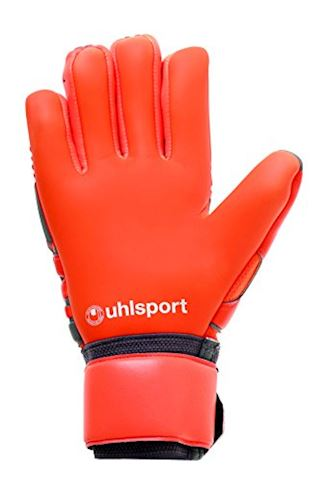 Uhlsport Goalkeeper Gloves AeroRed Absolutgrip HN - Dark Grey/Fluo Red/White Image 2