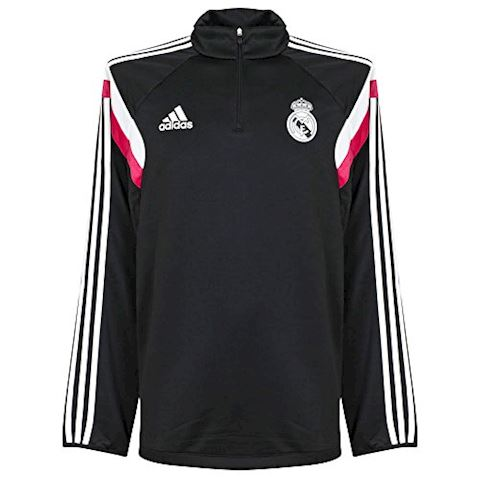 adidas Real Madrid Half Zip Mens 2014/15 Black Training Top Image