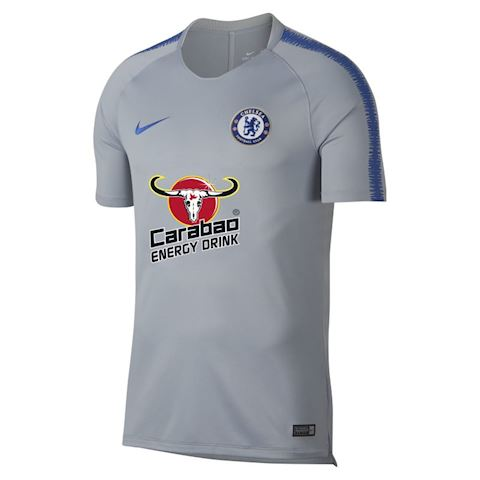 Nike Breathe Chelsea FC Squad Men's Short-Sleeve Football Top - Grey Image