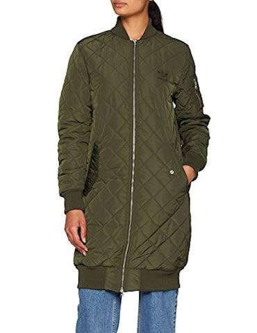 adidas Long Quilted Bomber Jacket Image 3