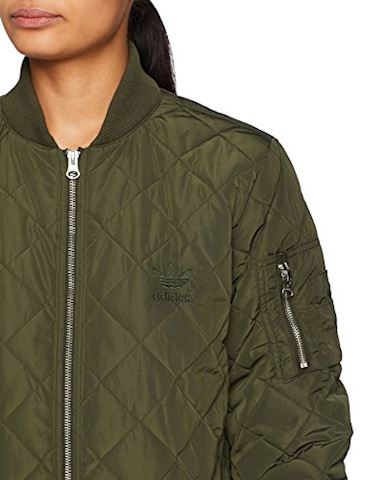 adidas Long Quilted Bomber Jacket Image 5
