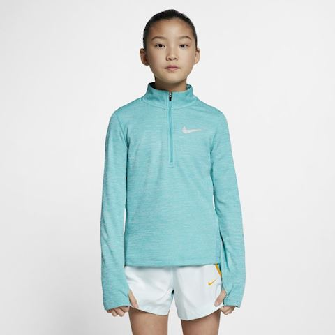 Nike Older Kids' (Girls') Long-Sleeve 1/2-Zip Running Top - Green Image