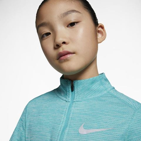 Nike Older Kids' (Girls') Long-Sleeve 1/2-Zip Running Top - Green Image 3