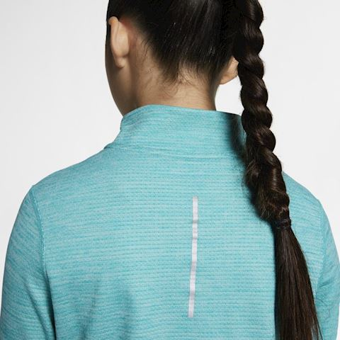 Nike Older Kids' (Girls') Long-Sleeve 1/2-Zip Running Top - Green Image 5