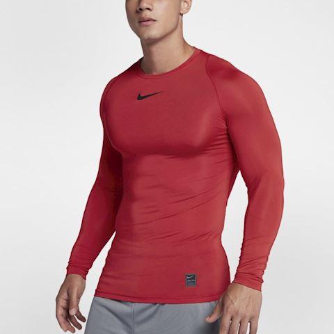 Nike Pro Men's Long-Sleeve Top - Red Image