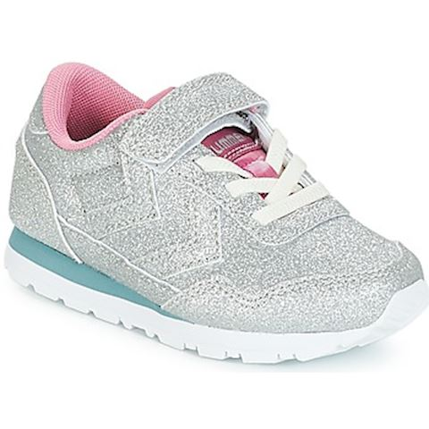 9ecb45e6467 Hummel REFLEX GLITTER JR girls's Shoes (Trainers) in Silver | 64559 ...
