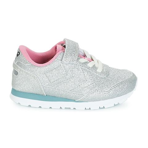 6756a11bb86 Hummel REFLEX GLITTER JR girls's Shoes (Trainers) in Silver | 64559 ...