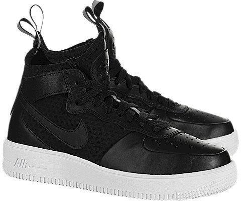 Nike Air Force 1 UltraForce Mid Women's Shoe - Black Image 2
