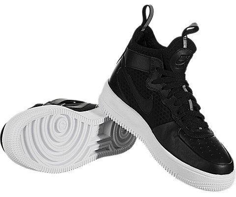 Nike Air Force 1 UltraForce Mid Women's Shoe - Black Image 3