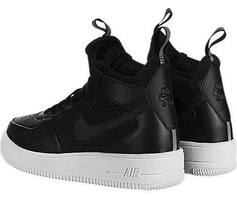 Nike Air Force 1 UltraForce Mid Women's Shoe - Black Image 4