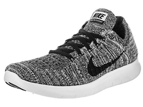 detailed look ad5a6 008a4 Nike Free RN Flyknit Womens Trainers White Black Image