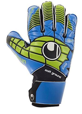 Uhlsport Goalkeeper Gloves Eliminator Soft Pro Black/Blue/Power Green Kids Image