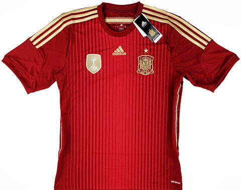 adidas Spain Mens SS Home Shirt 2013 Image