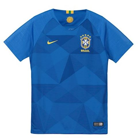 Nike Brazil Kids SS Away Shirt 2018 Image
