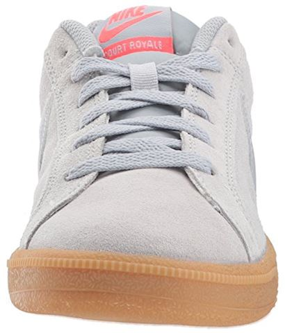 Nike Court Royale Suede - Wolf Grey/Solar Red Image 4