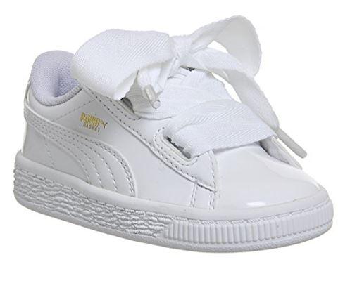 the latest f35e4 7a442 Puma Basket Heart Patent - Baby Shoes