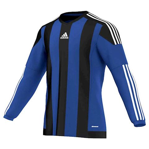 adidas Striped 15 LS Jersey Bold Blue Black White