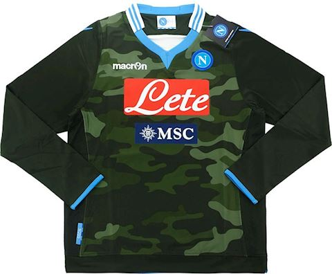 Macron Napoli Kids LS Player Issue Away Shirt 2013/14 Image