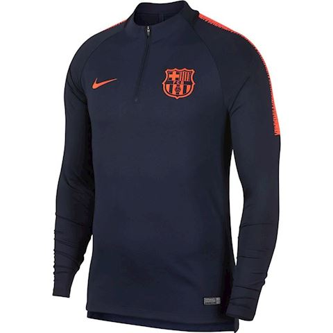 Nike FC Barcelona Dri-FIT Squad Older Kids'Long-Sleeve Football Top - Blue Image