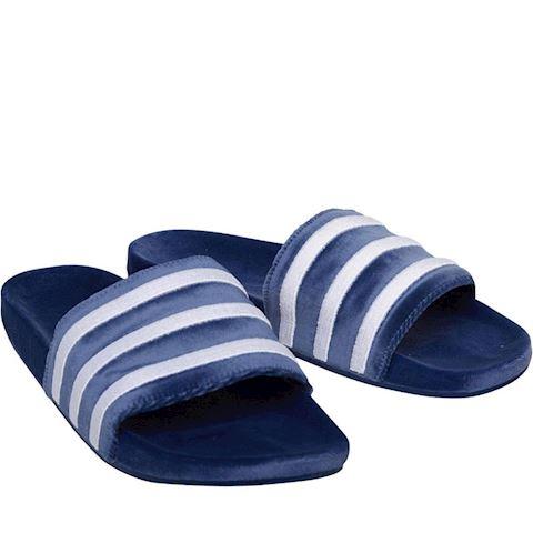 39bd301d adidas Originals Mens Adilette Slide Sandals Mystery Blue/Footwear  White/Footwear White