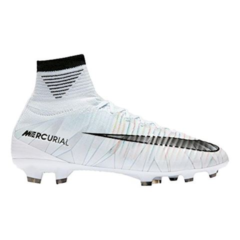 Nike Jr. Mercurial Superfly V CR7 Dynamic Fit Younger/Older Kids'Firm-Ground Football Boot - White Image