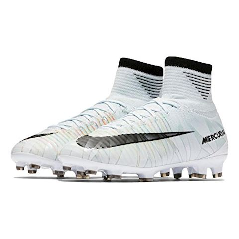 Nike Jr. Mercurial Superfly V CR7 Dynamic Fit Younger/Older Kids'Firm-Ground Football Boot - White Image 3