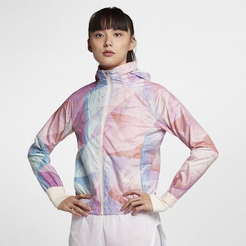 Nike Shield Women's Hooded Running Jacket - Pink Image