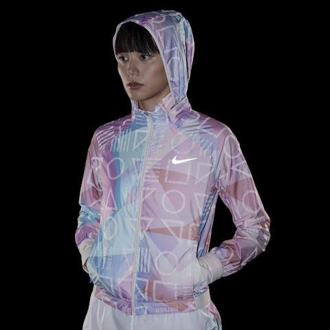 Nike Shield Women's Hooded Running Jacket - Pink Image 2