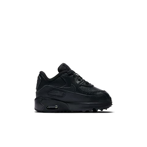 Nike Air Max 90 Leather Baby& Toddler Shoe - Black Image 3