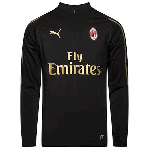 Milan Training Shirt 1/4 Zip - PUMA Black/Victory Gold Kids Image
