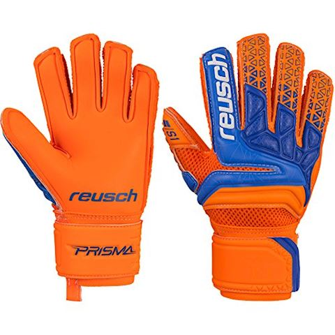 Reusch Goalkeeper Gloves Prisma Prime S1 Finger Support - Shocking Orange/Blue/Shocking Orange Kids Image
