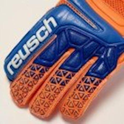 Reusch Goalkeeper Gloves Prisma Prime S1 Finger Support - Shocking Orange/Blue/Shocking Orange Kids Image 2