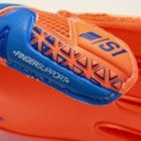 Reusch Goalkeeper Gloves Prisma Prime S1 Finger Support - Shocking Orange/Blue/Shocking Orange Kids Image 4
