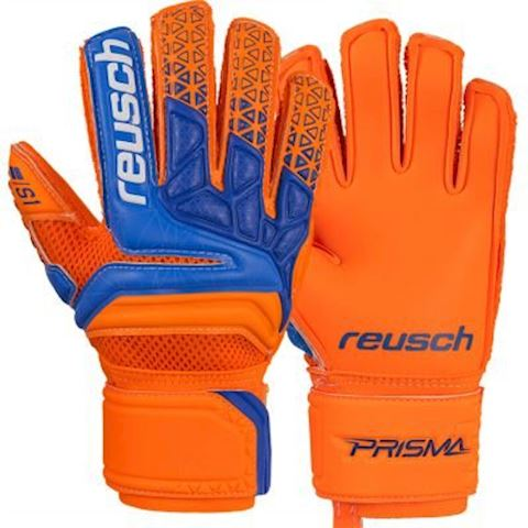 Reusch Goalkeeper Gloves Prisma Prime S1 Finger Support - Shocking Orange/Blue/Shocking Orange Kids Image 5
